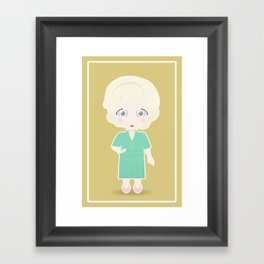 Girls in their Golden Years - Rose Framed Art Print