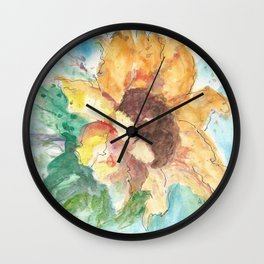 Happy Sunflower Wall Clock