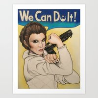 leia Art Prints featuring Leia by seventhwonderwitch