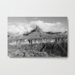 Tonto - The Grand Canyon - B&W Metal Print