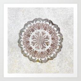 Shared love mandala Art Print