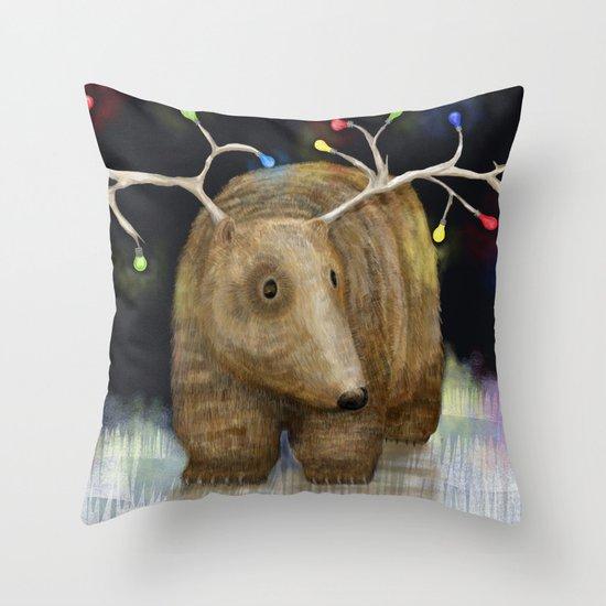 Glow me the Way : Christmas Lights Throw Pillow