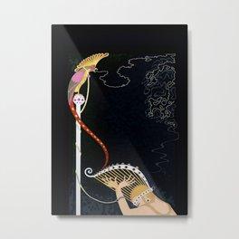 "Art Deco Design ""Enchanted Melody"" by Erté Metal Print"