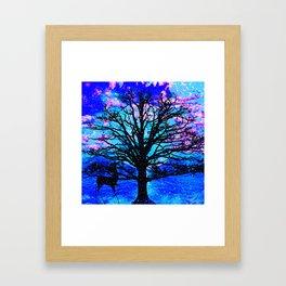 TREES AND STARS Framed Art Print