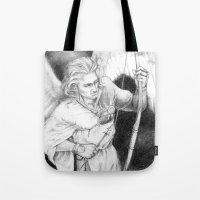 """archer Tote Bags featuring Archer by Barbara """"Yuhime"""" Wyrowińska"""