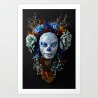 Berry Harvest Muertita Art Print