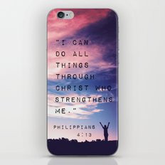 Philippians 4:13 in Nature iPhone & iPod Skin