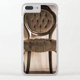 Antique Chair Clear iPhone Case