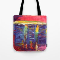 singapore Tote Bags featuring Bayfront Singapore by Kasia Pawlak