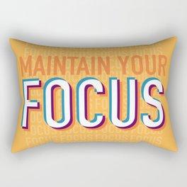 Maintain Your Focus Rectangular Pillow