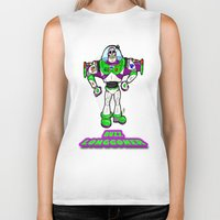 buzz lightyear Biker Tanks featuring Buzz Longgoner...  The spookier version of Pixar's Buzz Lightyear from Toy Story by beetoons