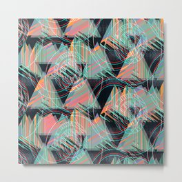 Vivid triangles Metal Print