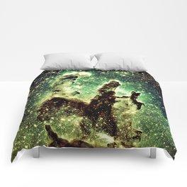 Green Pillars of Creation Comforters