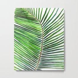 Palm watercolor leaf- Tropical print Metal Print
