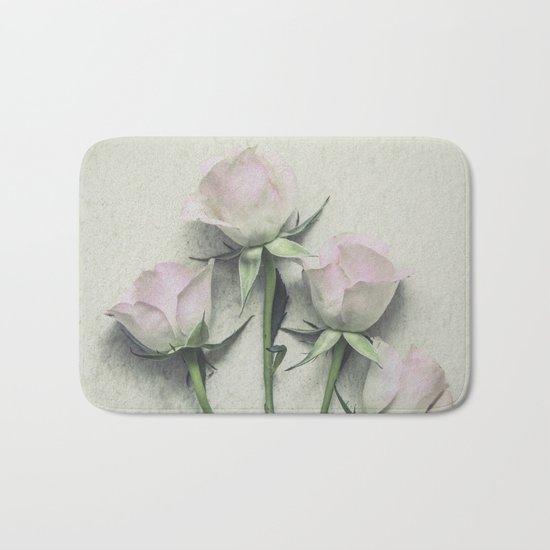 Delicate Roses Bath Mat