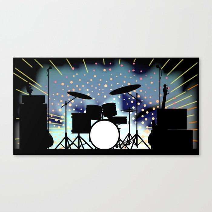 Bright Rock Band Stage Leinwanddruck