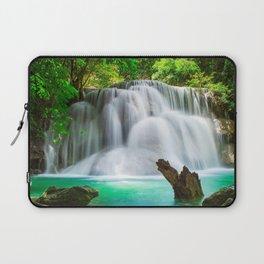 beautiful waterfall rainforest beautiful lake waterfalls jungle water concepts ecology environment Thailand Laptop Sleeve