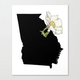Georgia Silhouette Canvas Print