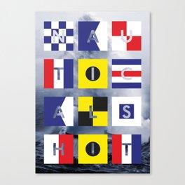 Nautical Shit Canvas Print