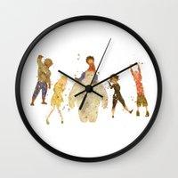 big hero 6 Wall Clocks featuring Big Hero 6 Disneys by Carma Zoe