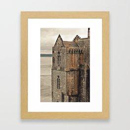 Mont St. Michel - Square Tower - Brittany France Framed Art Print