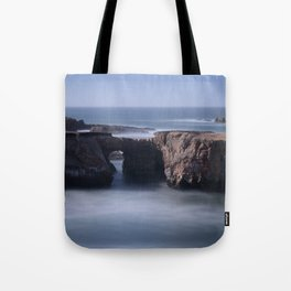 Keyhole Rock Arches Point Arena California Tote Bag