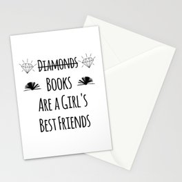 Books Are a Girl's Best Friends Stationery Cards