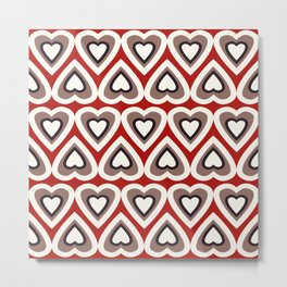 Strawberry and Chocolate Cream Love Hearts Metal Print