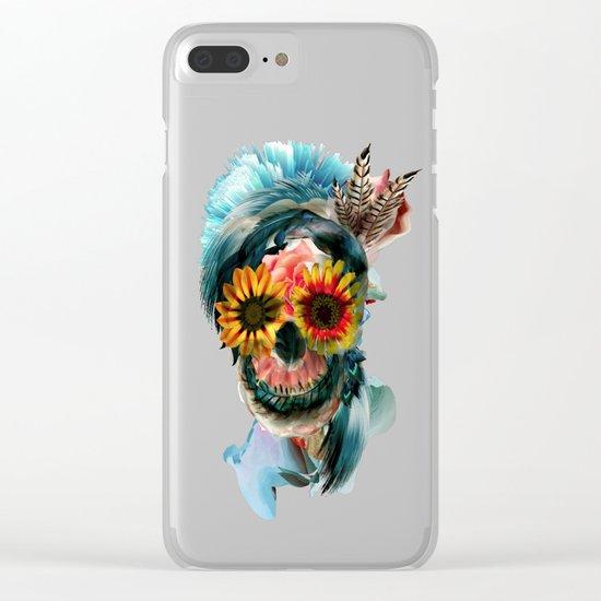 Skull Women Clear iPhone Case
