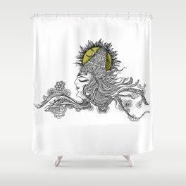 Shiva Moon Shower Curtain