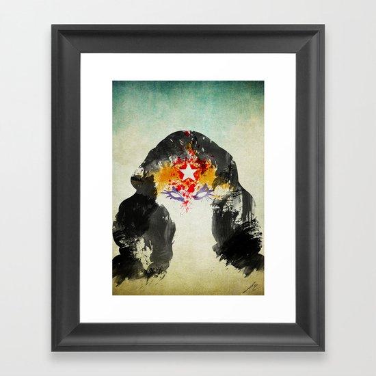 Muscle Girl Framed Art Print