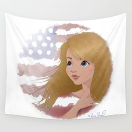 God Bless America 2 Wall Tapestry