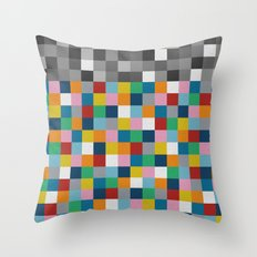 Colour Block with Topper #2 Throw Pillow