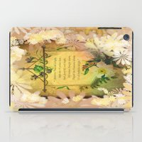 poem iPad Cases featuring Love Poem by Lucia