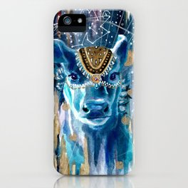 Astral Moon Cow Mandala iPhone Case