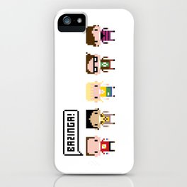 The Big Bang Theory Pixel Characters iPhone Case