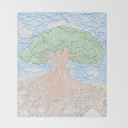 Roots and Leaves Throw Blanket