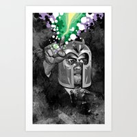 magneto Art Prints featuring MAGNETO X by BlackKirby1