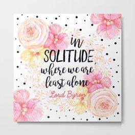 Solitude Byron Metal Print
