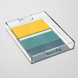 stripe study 2 Acrylic Tray