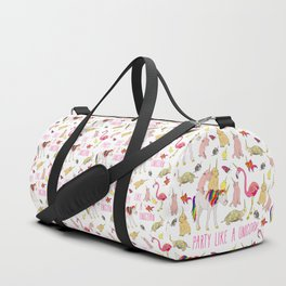 Party Like A Unicorn Duffle Bag