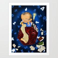 20 sided dice Art Print