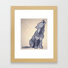 Zentangle Wolf Cub (Update) Framed Art Print
