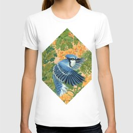 Autumn Song: Blue Jay and Cassia T-shirt