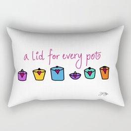 A lid for every pot Rectangular Pillow