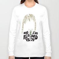 soul eater Long Sleeve T-shirts featuring maka albarn soul eater by Rebecca McGoran
