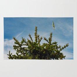 Seagull Pine tree tops Rug
