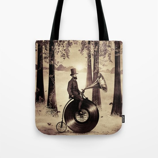 Music Man in the Forest, by Eric Fan and Viviana González Tote Bag