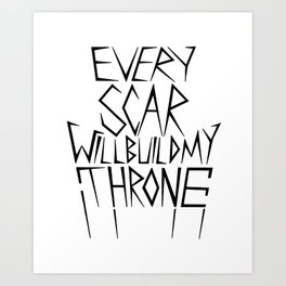 Every Scar (BMTH) Art Print