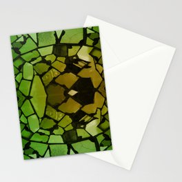 Mosaic - Green Parrot Stationery Cards